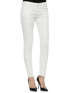 Textured White Jeans