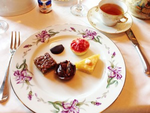 Assorted pastries at the afternoon tea at Hotel Granduca