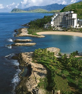 Aeriel view of JW Marriott beach