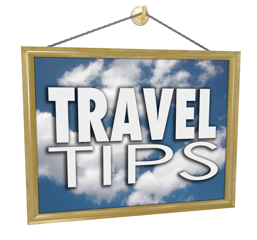 Travel Tips Hanging Sign Agency Advice Helpful Information