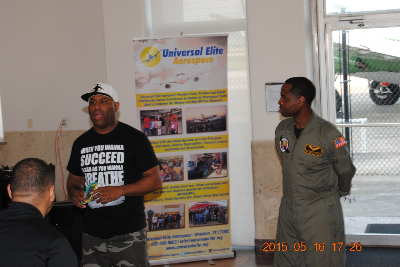 Hip Hop Preacher Eric Thomas and founder of Universal Elite Aerospace Kenneth Morris