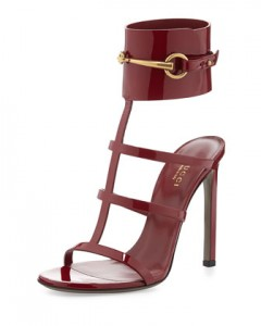Gucci Patent Leather Gladiator Sandal