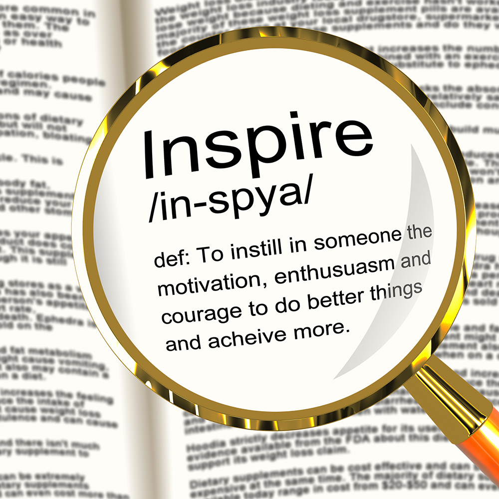 Inspire Definition Magnifier Showing Motivation Encouragement And Inspiration