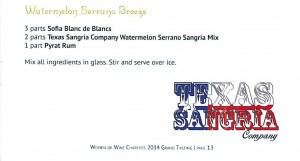 Texas Sangria Co Receipe