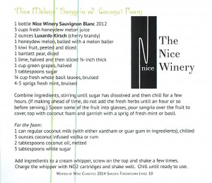 The Nice Winery recipe
